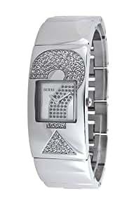 Guess W10244L1 - Reloj analógico de cuarzo para mujer con correa de metal, color plateado