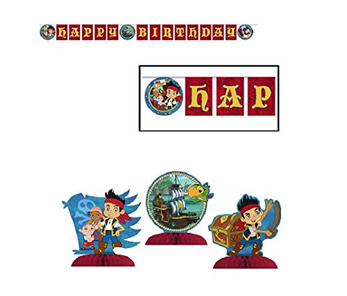 (party bundle Jake and the Neverland Pirates Birthday Party Supply Decoration Set Banner and 3pc Mini)