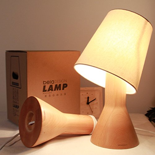 Beech Modern Desk - Modern Style Room Lamp, Decoration Lamp,100% Germany Beech Wood Table Lamps for Living Room, Lamps for Bedroom