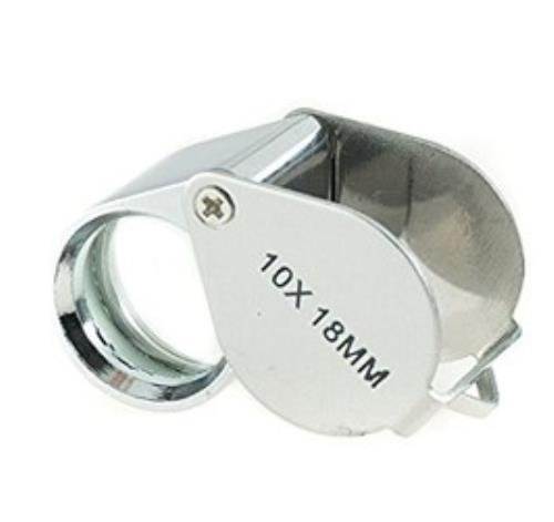 Make Your Own Gold Bars 10x18MM Jewelers Loupe - Silver in color - ()