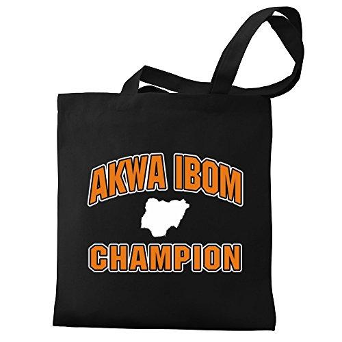 Ibom Eddany Akwa champion Akwa Bag Tote Eddany Ibom champion Canvas rrCqX