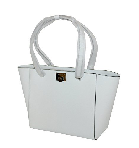 MICHAEL Michael Kors TINA LARGE TOP ZIP Women's Handbag TOTE (OPTIC WHITE) ()