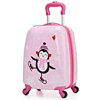 Kids Suitcase Hardshell Spinner Wheels Boys Girls Luggage 18 inch Carry On Travel Trolley LeLeTian
