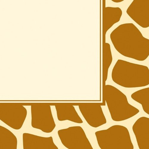 16-Count Paper Lunch Napkins, Animal Print Giraffe