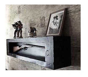 Amazon.com: Wall Mount Gun Cabinet.Shadow Box.Display Gun Case ...