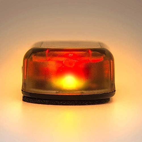 TOOGOO Car Solar Power Simulated Dummy Alarm Warning Anti-Theft Led Flashing Security Light Fake Lamp Red