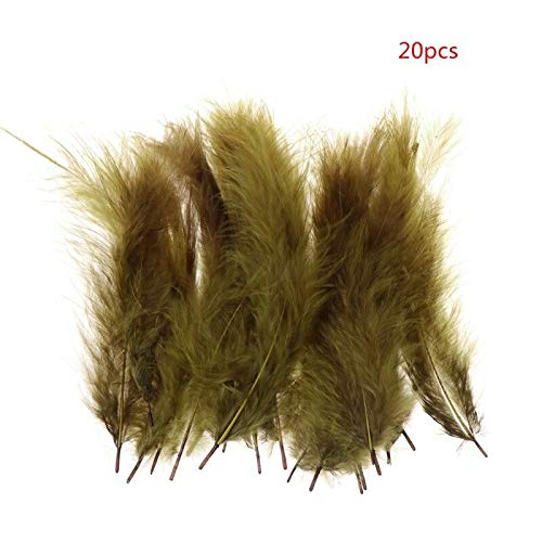 Ameglia 20 Pcs/Bag Rooster Feather Fly Fishing Tying Flies Binding Tackle 9-15cm 8 Color (Color - 4#)