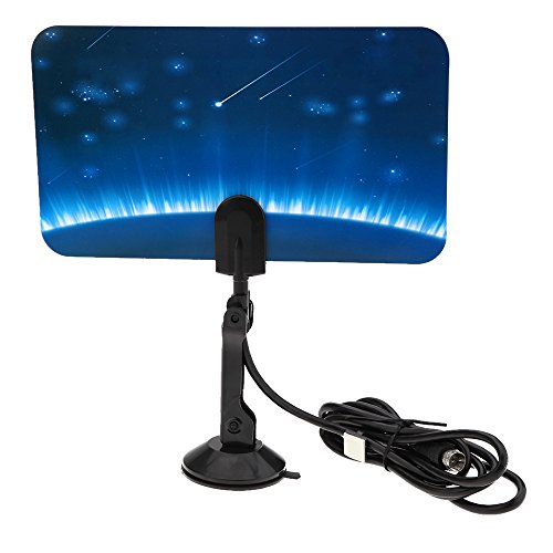 Tv Turner Card (Andoer Digital Indoor TV HDTV DTV Antenna Flat Design Support Receiving VHF UHF Signals / Free Digital / Analog Signals High Gain US Plug)