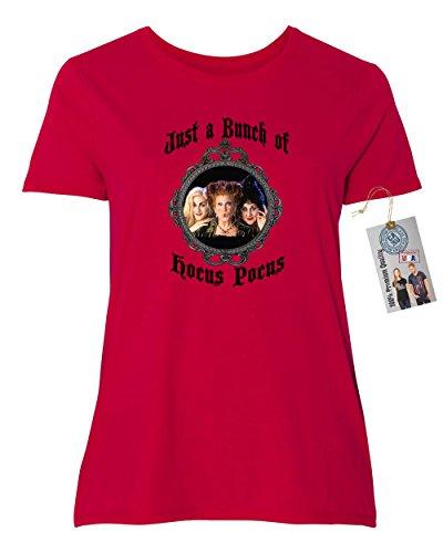 Hocus Pocus Movie Halloween Shirt Plus Size Womens Short Sleeve T-Shirt Red 5XL ()