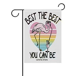 Vinlin Best The Flamingo – Bandera de jardín de doble cara – Bandera decorativa para jardín y hogar, poliéster, 12x18(in)
