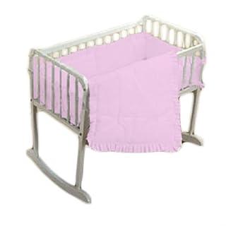 "bkb Simplicity Cradle Bedding, Pink, 18"" X 36"""