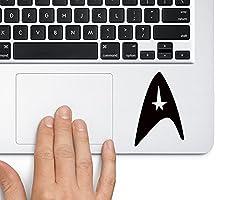 Star Trek Logo - Trackpad Apple Macbook Laptop Vinyl Sticker Decal