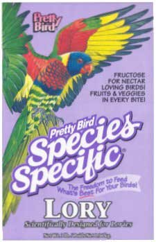 Pretty Bird Species Specific Lory Bird Food, 20 lb. - Lory Diet Nectar
