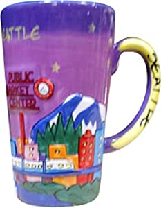 Seattle Hand Painted Designed Collection of Drinkware (Java Mug)