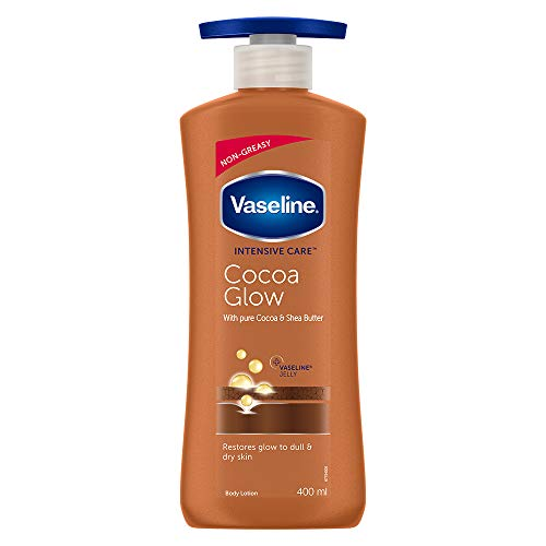 Vaseline Intensive Care 24 hr nourishing Cocoa Glow Body Lotion with Cocoa And Shea Butter, Restores Glow for all skin…