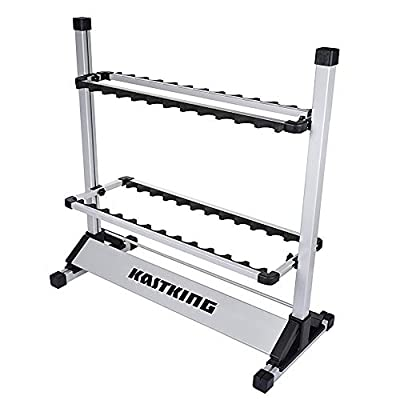 KastKing Fishing Rod Rack - Perfect Fishing Rod Holder - Holds Up to 24 Rods - 24 Rod Rack for All Types of Fishing Rods and Combos/ 12 Rod Rack for Freshwater Rods - ICAST Award Winner