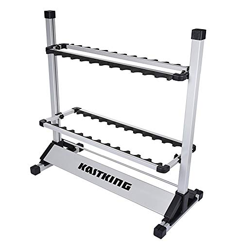KastKing Rack 'em Up Portable Aluminum Fishing Rod Holder - 24 Rods Rack ()