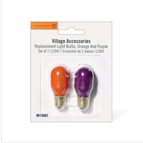 Orange Halloween Lights Home Depot (Purple/Orange | Department 56 Halloween Village Replacement Light Bulbs (2 Pack))