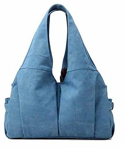 Novedad CCAYBP180701 de Mujeres de Azul Bolsas Moda hombro mano Lona Bolsas VogueZone009 Casual Ytfxx