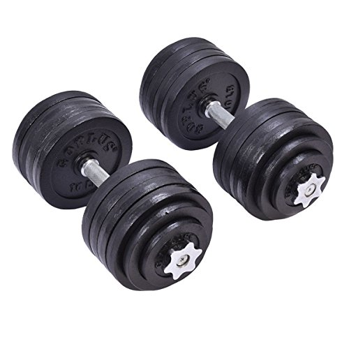 Giantex 200 LB Weight Dumbbell Set Adjustable Cap Gym Barbell Plates Body Workout by Giantex