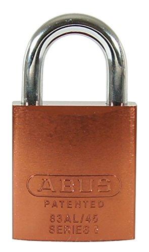 Abus 83al/45–300S2Schlage Rekeyable candado cuerpo de aluminio con 1-inch grillete, café zero-bitted