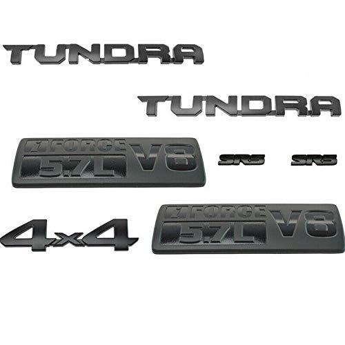 New Black 3D Emblem TUNDRA 5.7L V8 I-Force SR5 4X4 Trd Pro Nameplate For Toyota