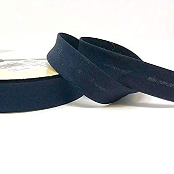 Per Metre Stephanoise Plain Cotton Jersey Bias Binding 20mm Wide Black