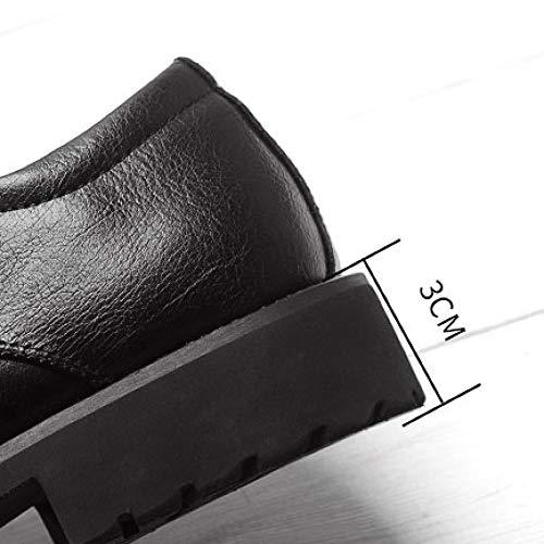 Derby in Black in EU UK e 41 8 Scarpe Pelle Pelle con a Sottopiede Scarpe Uomo Suola in Punta Gomma 7 42 NBWE 500 da 75Sxwq8U