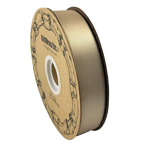 Beige Satin Fabric Wedding Ribbon - 1