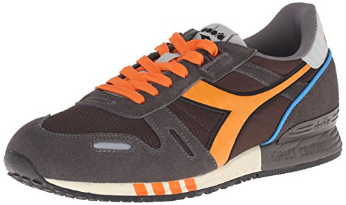 Diadora Mens Titan Ii Scarpa Da Corsa Dark Gull Gray / Coffee Bean