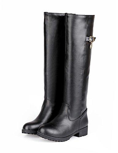 Pour robe us8 bout bottes Boucle Eu39 marron Femme Black Noir Bien Chunky Xzz Rond Uk6 Talon Confort Oklok split Cn39 Mariage extérieur Joint D'autres fXzREx5