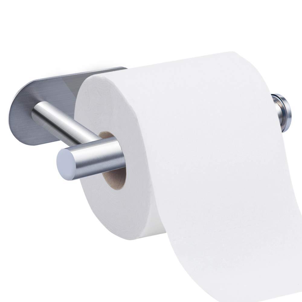 f/ür K/üche und Badzimmer Toilettenpapierhalter Nasharia Ohne Bohren Selbstklebend Papierhalter Edelstahl Klopapierhalter Toilette Rollenhalter