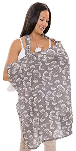 Zenoff Products Nursing Cover, Flowing Fans, Grey, White by Zenoff Products (Image #4)
