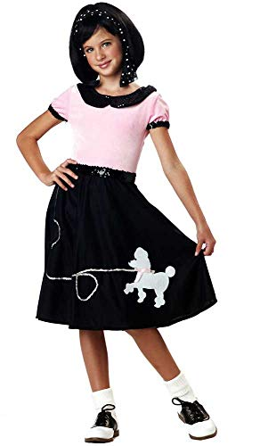 Girls 50S Hop With Poodle Skirt Halloween Costume Kids Children -