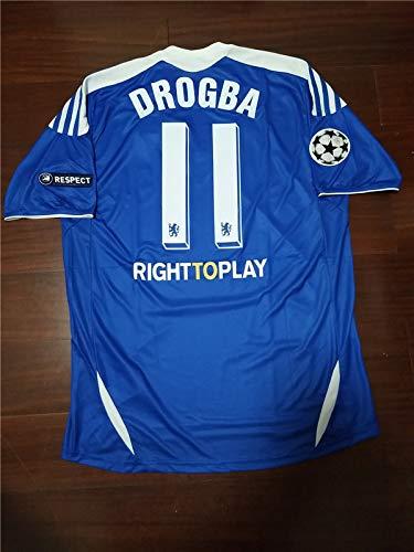 Retro Drogba 11 Chelsea Soccer Jersey Champion League Final 2012 Full Patch  (Blue 2bff969d2