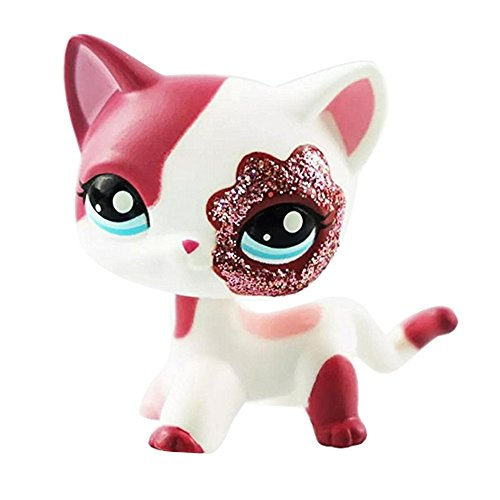 crossed3_Toy store Pet Shop lps Animal Pet Cat Collection Child Girl Boy Figure Toy Loose Cute Shops Super Rare Comic CON CAT Hero Pink cat #2291 LPS (Toy No. #03) -