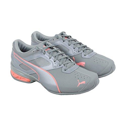 PUMA Women's Tazon 6 Wn Sneaker, Quarry-Soft Fluo Peach, 8 M US