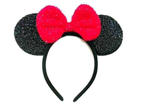 Price comparison product image Mickey Mouse Minnie Mouse Ears Headband Sparking : M7 (MCB-Red)