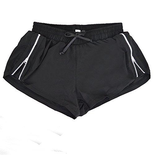 Negro Shorts Culturismo Mujeres Sport Yoga Para Correr Grandes Fitness Aisi 5nZzExq8Ew