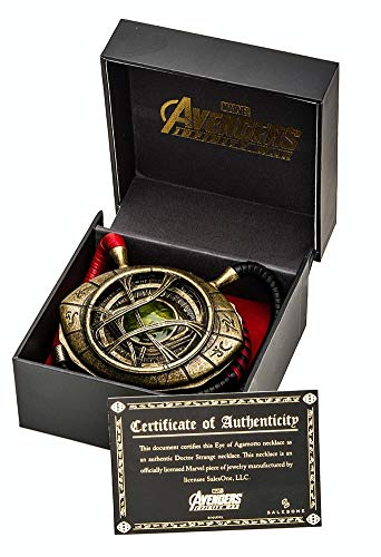 Doctor Strange Eye of Agamotto Prop Replica Necklace - 1/1 Scale - Avengers Infinity War Collectible Accessories And Movie Memorabilia - Unique Superhero Gift for Birthdays, Halloween Costume, Cosplay -