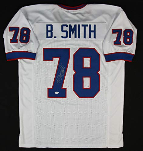 Bruce Smith Autographed Signed Autograph Buffalo Bills White Jersey JSA Authentic Cert Bruce Smith Autographed Buffalo Bills