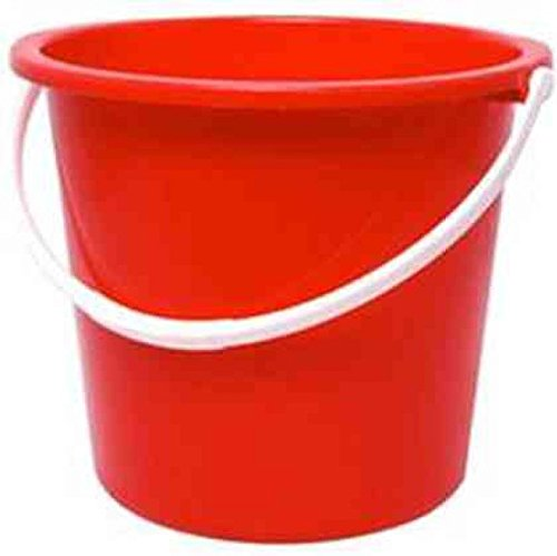 Jantex CD807 - Cubo de plástico redondo, color rojo