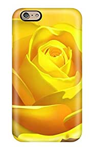 3d Yellow Rose Case Compatible With Iphone 6/ Hot Protection Case(3D PC Soft Case) by ruishername