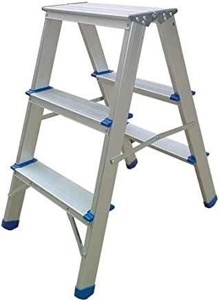Domus taburete aluminio doble subida escalera escalera 3 peldaños hasta 150 kg: Amazon.es: Bricolaje y herramientas