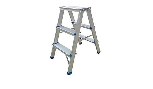Domus taburete aluminio doble subida escalera escalera 3 peldaños ...