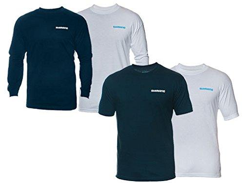 Shimano Short Sleeve T-Shirt, X-Large, Navy