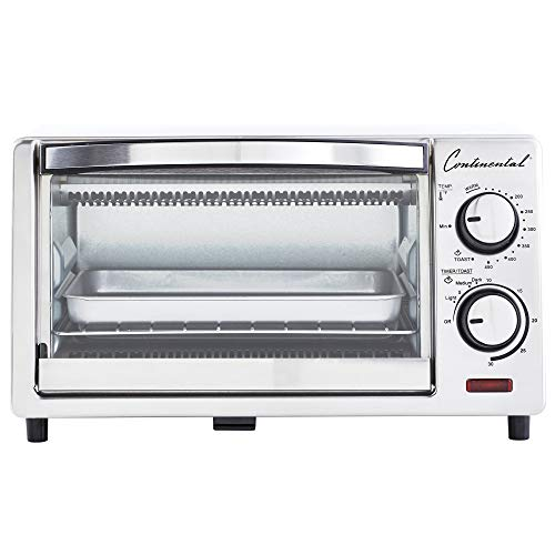 Continental Electric CE-TO101 Toaster Oven 4-slice White