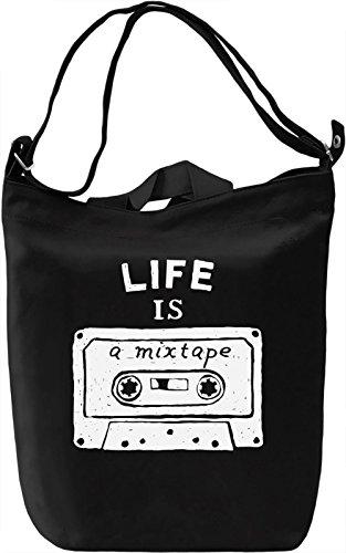 Mixtape Borsa Giornaliera Canvas Canvas Day Bag| 100% Premium Cotton Canvas| DTG Printing|