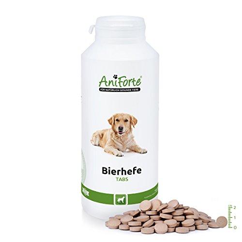 AniForte Bierhefe Tabs 500 Stk. - Naturprodukt für Hunde für glänzendes Fell und gesunde Haut