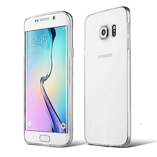 AMBM, Slim Thin Transparent TPU Cover Case with Crystal Clear Anti-Scratch and Anti-Shock Back Plate and TPU Bumper for Samsung Galaxy S6 Edge Plus 5.7 Inch
